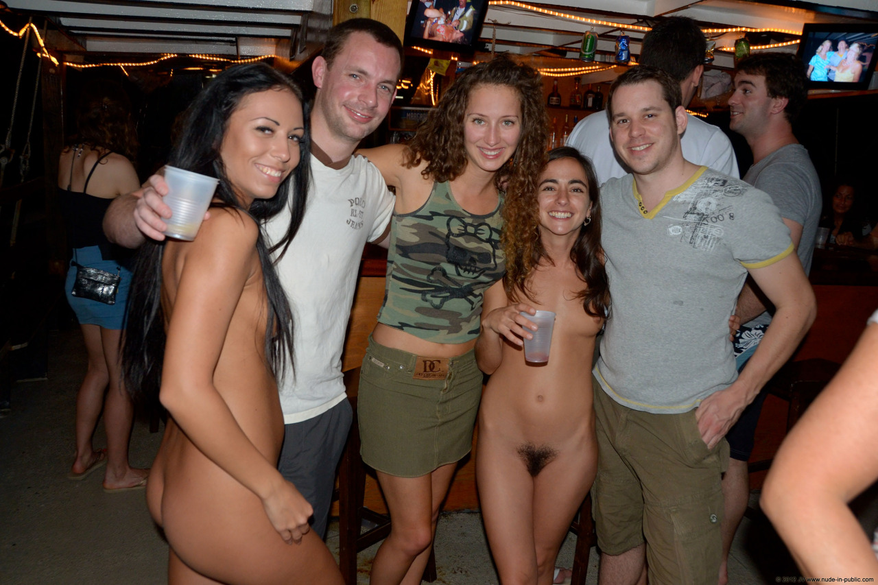Wife naked bar